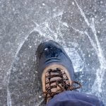 Slipping on ice